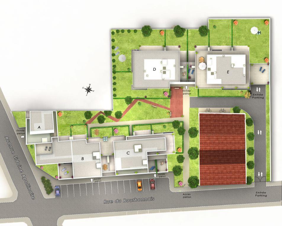 Vente appartement T1 neuf sur Lyon 9 Valmy rez de jardin privatif