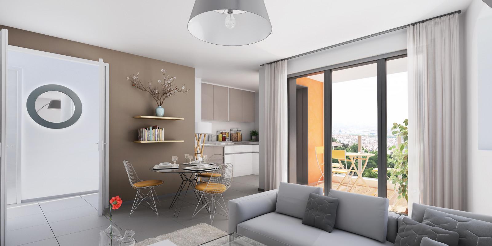 Appartement t4 neuf duplex dernier tage grande terrasse for Appartement atypique lyon 5