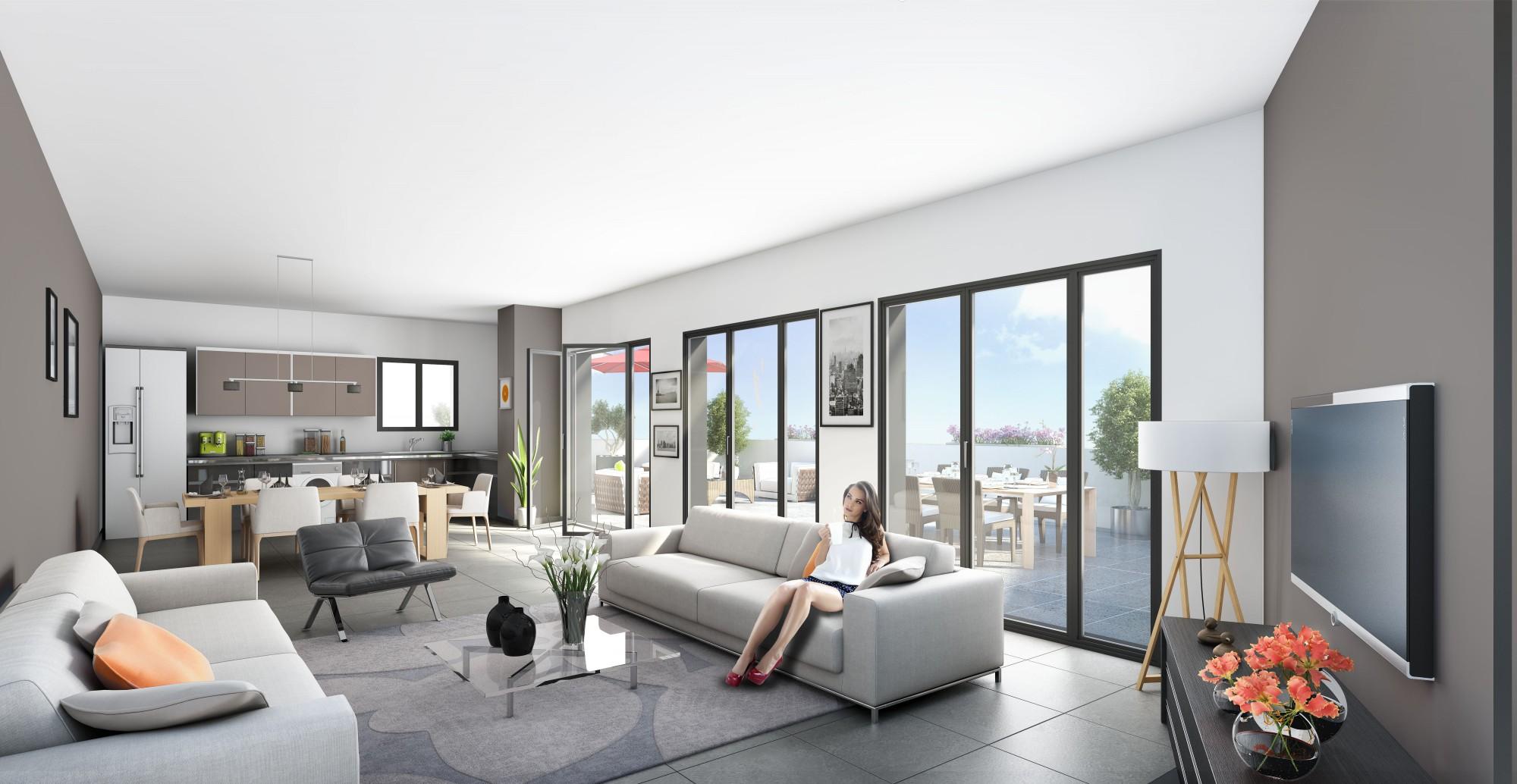appartement t4 neuf duplex dernier tage grande terrasse lyon 5 trion saint just lots. Black Bedroom Furniture Sets. Home Design Ideas