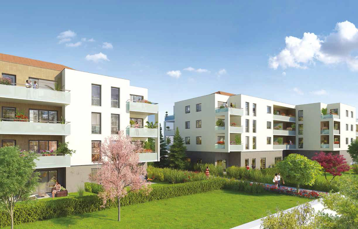 Programme immobilier meyzieu centre avec appartements t1 for Immobilier appartement